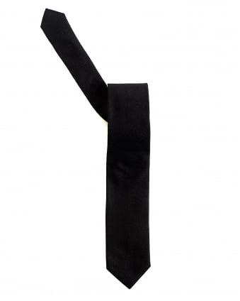 Mens Black Silk Textured Tie