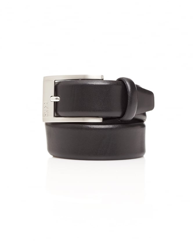 Hugo Boss - Hugo Mens C-Brandon Smooth Leather Black Suit Belt