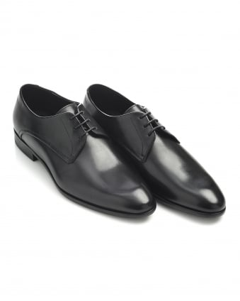 Mens C-Dresios Black Leather Lace Up Business Shoes