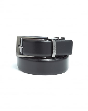 Mens C-Elvio Black/Brown Reversible Leather Belt