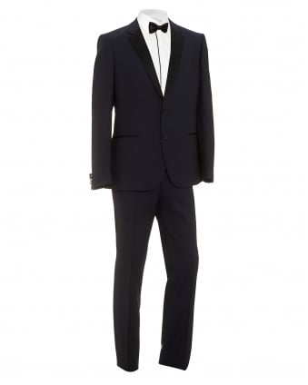 Mens C-Harmyn Geynus Slim Fit Blue Dinner Suit