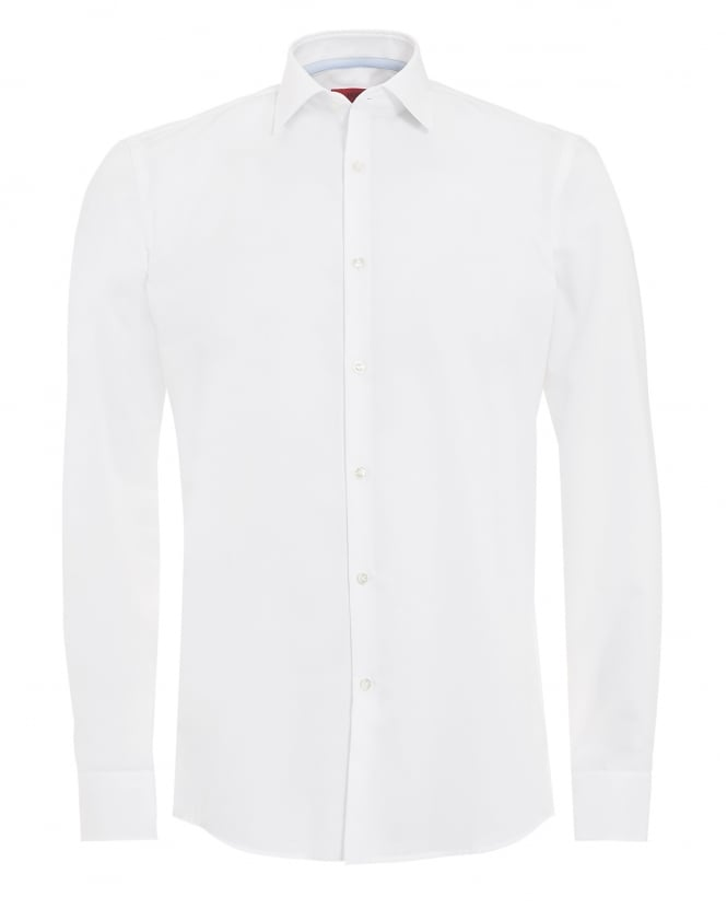 Hugo Boss - Hugo Mens C-Joey Shirt, Plain White Cotton Shirt