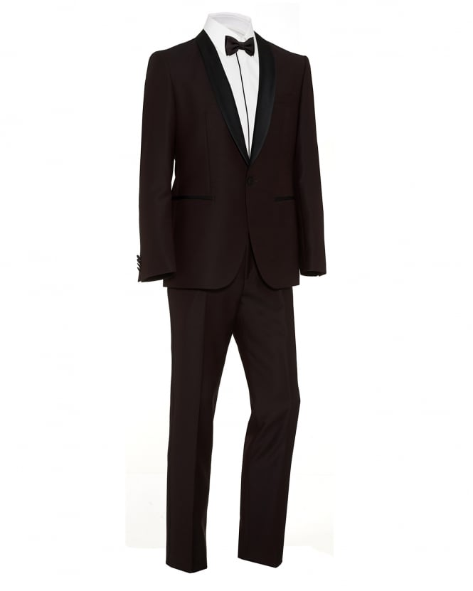 Hugo Boss - Hugo Mens C-John C-Saimen Burgundy Regular Fit Dinner Suit
