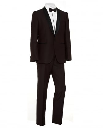 Mens C-John C-Saimen Burgundy Regular Fit Dinner Suit
