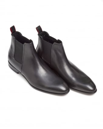 Mens Dressapp_Cheb_bu Rich Leather Black Chelsea Boots