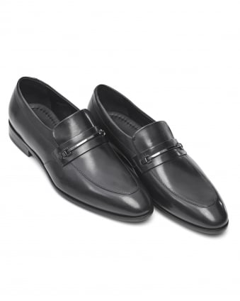 Mens Dressapp_Loaf Shoe, Slip On Black Loafer