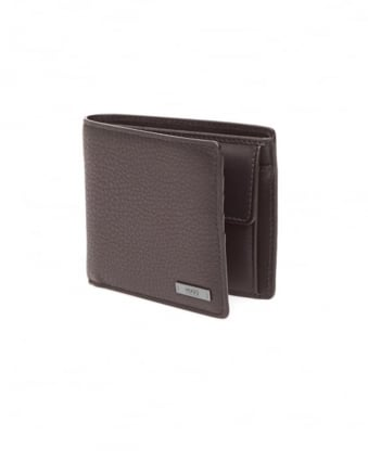 Mens Element_4cc Grained Black Leather Wallet