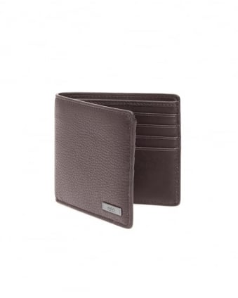 Mens Element_8 Grained Black Leather Wallet