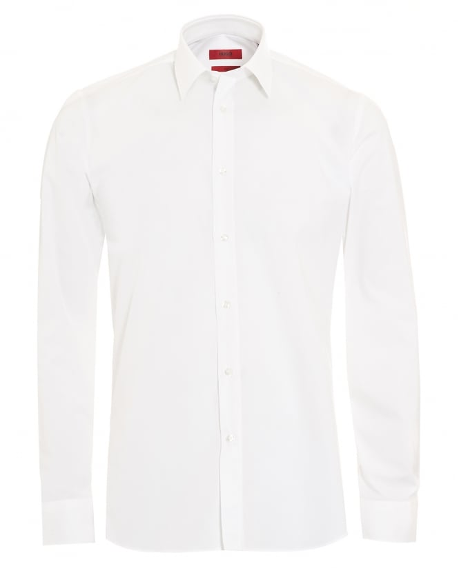 Hugo Boss - Hugo Mens Elisha Slim Fit Stretch Cotton White Shirt