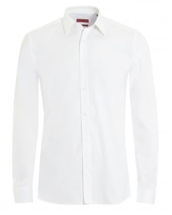Mens Elisha Slim Fit White Shirt