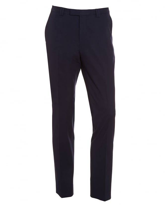 Hugo Boss - Hugo Mens Heilon Navy Blue Slim Fit Stretch Cotton Trousers