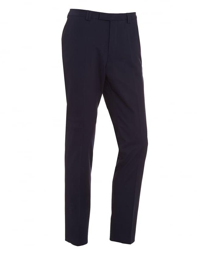 e0dcabebb Hugo Boss - Hugo Mens Heilon Navy Slim Fit Stretch Cotton Trousers