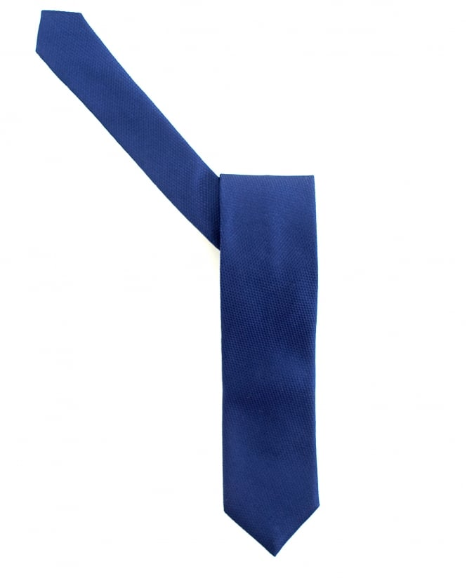 Hugo Boss - Hugo Mens Navy Blue Silk Textured Tie