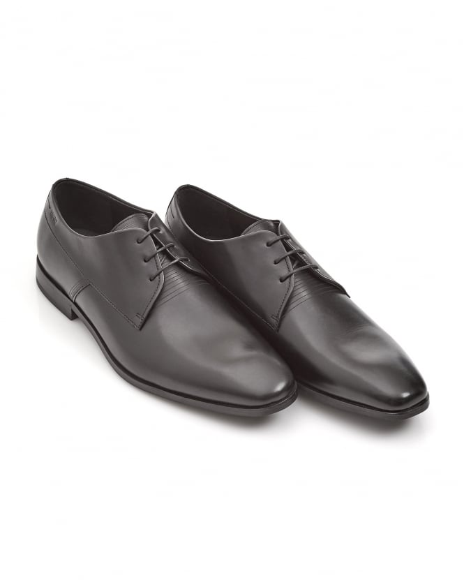 Hugo Boss - Hugo Mens Square_Derb Black Lace-Up Derby Shoes