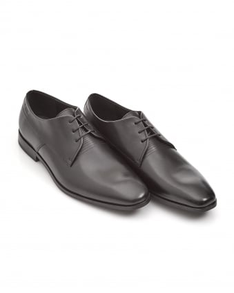 Mens Square_Derb Black Lace-Up Derby Shoes