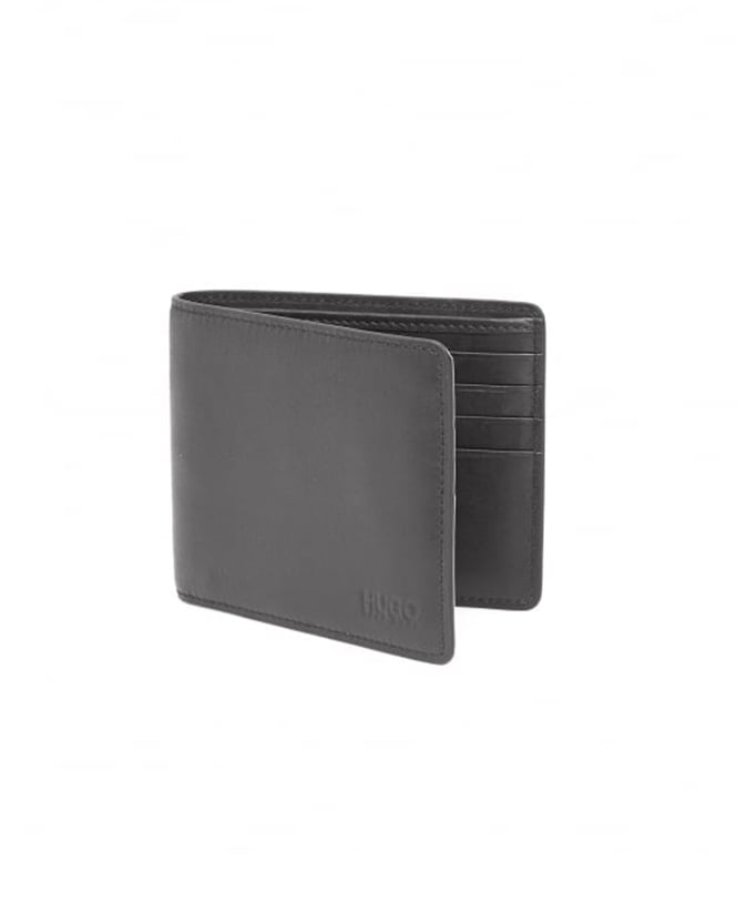 Hugo Boss - Hugo Mens Subway_8 Smooth Black Leather Wallet