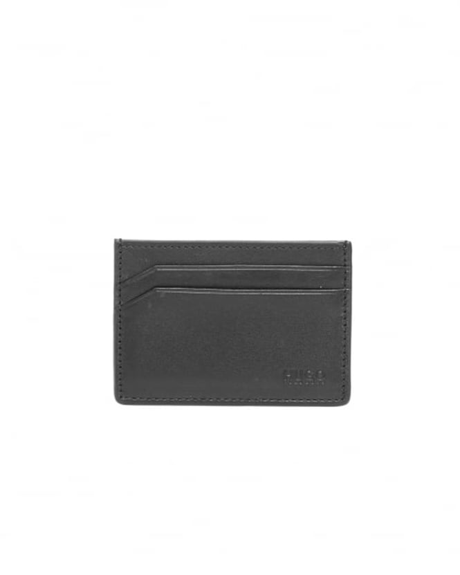 Hugo Boss - Hugo Mens Subway_S Smooth Black Leather Card Holder