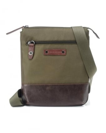 Bag, Olive Green 'Narrow' Shoulder Bag