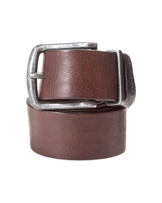 Hugo Boss Orange Belt, Brown Grained Leather 'Jeppo' Belt