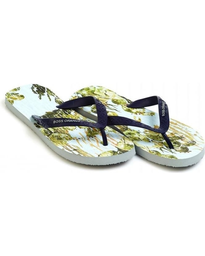 Hugo Boss Orange 'Losti' Cactus Print Flip Flops