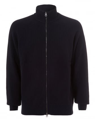 Mens Asmaren Jumper, Waffle Effect Navy Sky Captain Knit