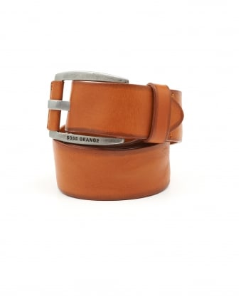 Mens Bakaba-N Vintage Look Tan Belt