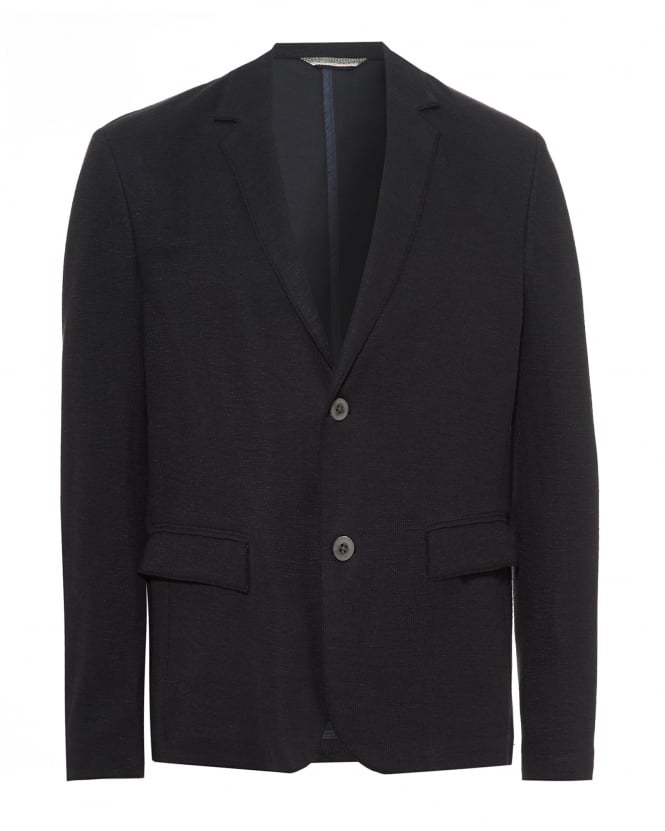 BOSS Casual Mens Becozy-J Knitted Blazer, Linen Blend Navy Blue Jacket