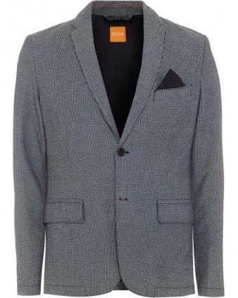 Mens Beneslim2_BS-W Jacket, Navy Blue Geometric Blazer