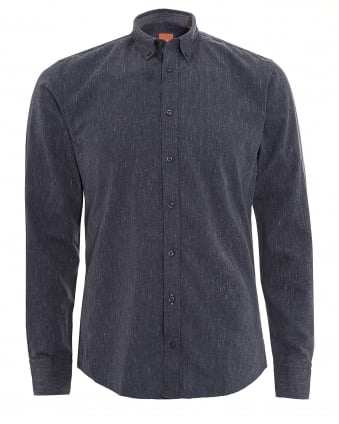 Mens Edipoe Shirt, Denim Blue Slim Fit Shirt