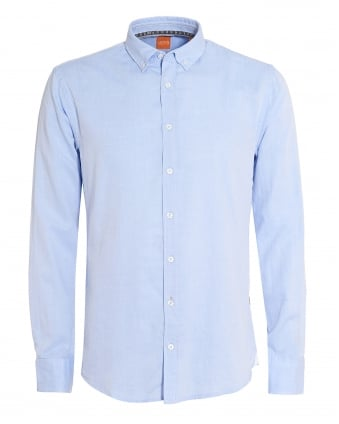 Mens Epreppy Shirt, Slim-Fit Sky Blue Cotton Shirt