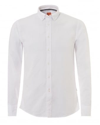 Mens Epreppy Shirt, Slim Fit White Cotton Shirt