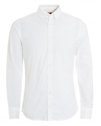 Mens Epreppy Slim Fit White Oxford Shirt