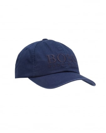 Mens Fritz Baseball Cap, Soft Cotton Navy Blue Cap