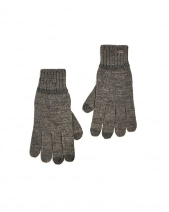 Mens Graas 2 Grey Wool Gloves