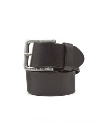 Mens Jeek Basic Black Leather Belt