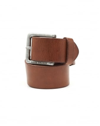 Mens Jeek Basic Choc Leather Belt