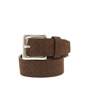 Mens Jemmino_Sz35_wnem Braided Choco Belt