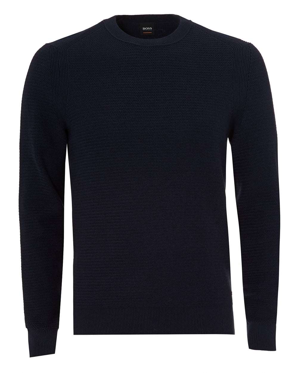 hugo boss orange mens kelvor jumper navy waffle knit sweater. Black Bedroom Furniture Sets. Home Design Ideas