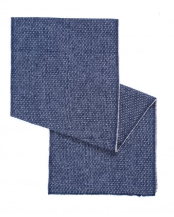 Mens North Birds Eye Brushed Cotton Blue Scarf