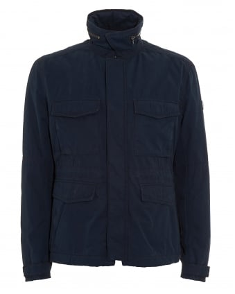 Mens Ojett-W Padded Slim Fit Navy Field Jacket