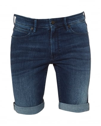 Mens Orange24 Shorts-P Super Stretch Blue Denim Shorts