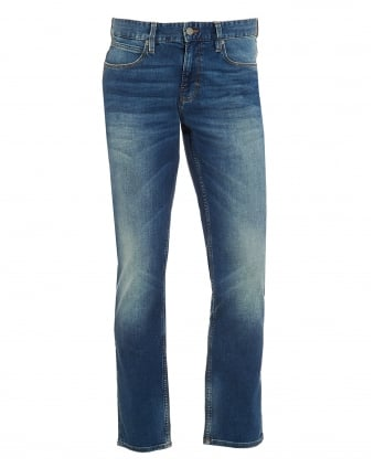 Mens Orange63 Jean, Slim Fit Whiskered Mid Light Jeans