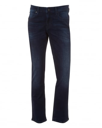 Mens Orange63 Jeans, Slim Fit Deep Indigo Denim