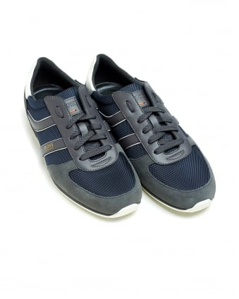 Mens Orland_Runn_ny Dark Blue Trainers, Low-Top Suede Sneakers