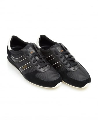 Mens Orland_Runn_ny Trainers, Side Stripe Black Sneakers
