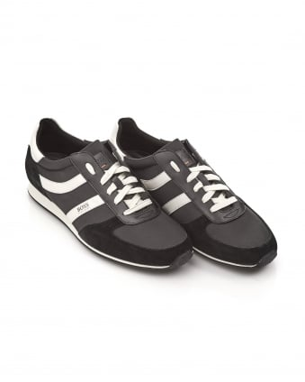 Mens Orland_Runn_nypl Trainers, Suede Fabric Black Sneakers