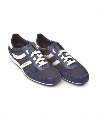 Mens Orland_Runn_nypl Trainers, Suede Fabric Navy Blue Sneakers