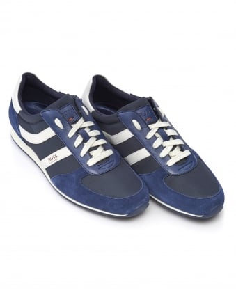 Mens Orland_Runn_sd Suede Low-Top Navy Trainers