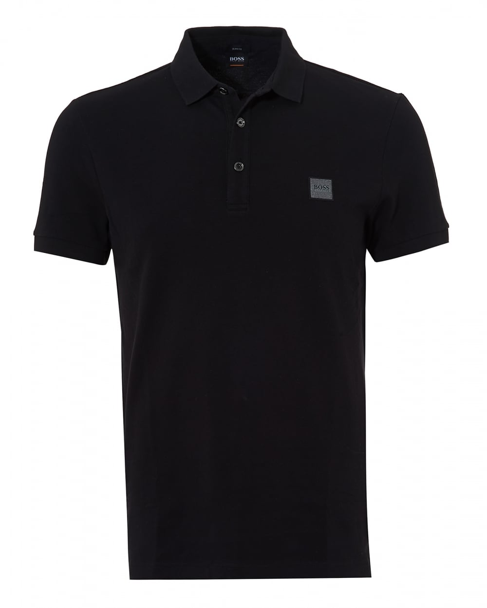 Mens Passenger Polo, Black Short Sleeve Polo Shirt