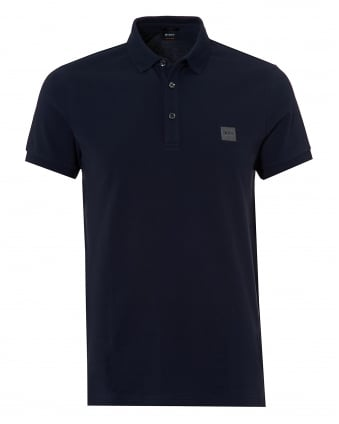 Mens Passenger Polo, Navy Blue Short Sleeve Polo Shirt